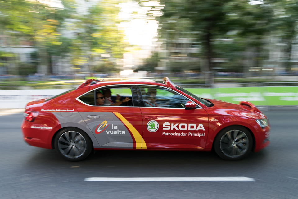 The drivers of the Vuelta Skoda's were flying around the circuit as if on a race track.